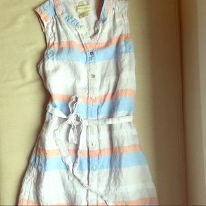 Cynthia Rowley linen shirt dress - XS